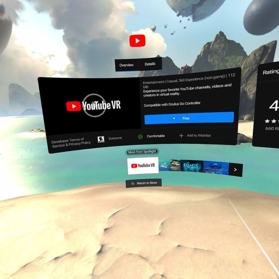 Ứng dụng VR youtube giúp người dùng trải nghiệm thú vị hơn