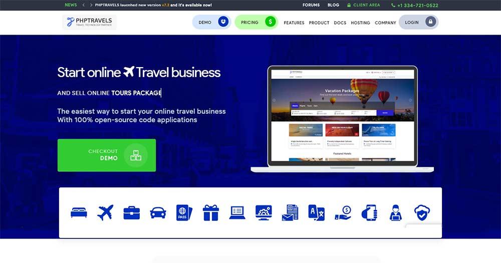 Phần mềm quản lý du lịch PHP Travels
