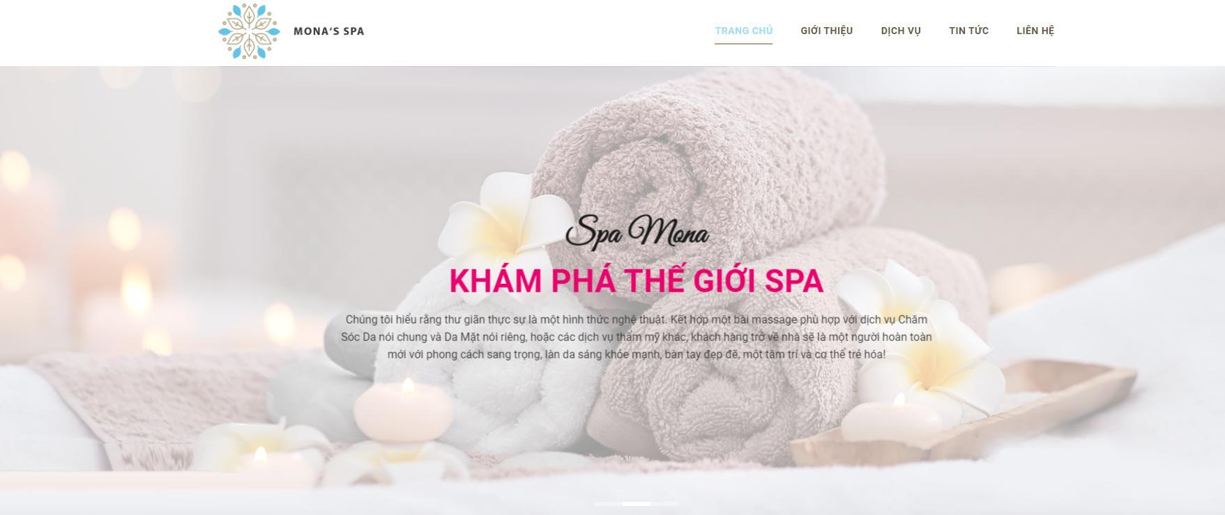 Thiết kế website spa phát triển thương hiệu